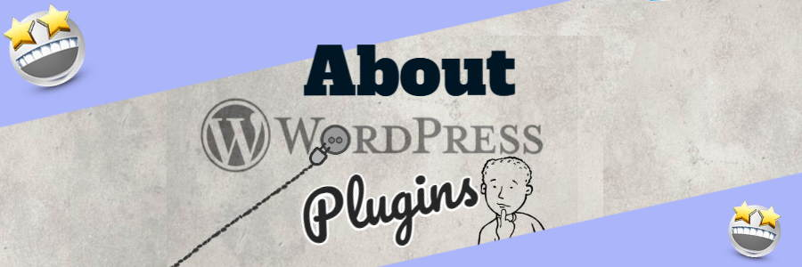 About WordPress Plugins a featured image shows a graphic representing a plug, plugged into the WordPress logo.