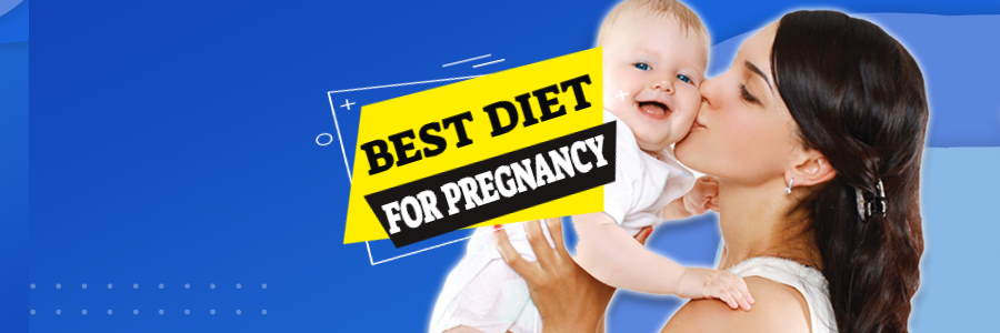 Image shows a happy Mum and baby to introduce our article on the best diet for pregnancy.