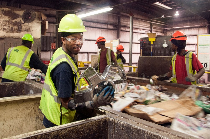 """Waste picking in a clean MRF for what is a MRF?"