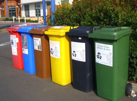 Recyling bins. A Green RVer uses these.
