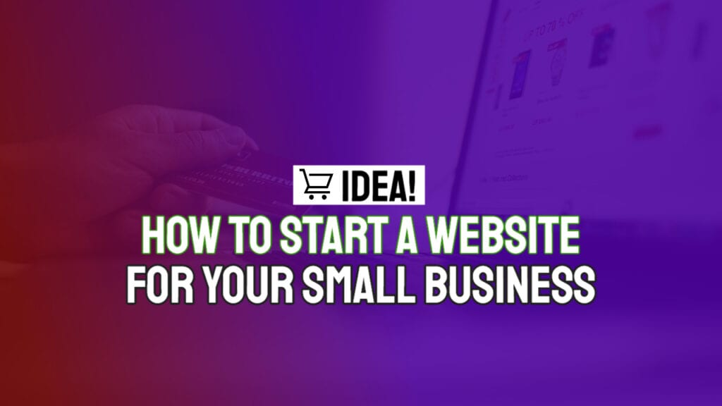 how to start a website for your small business